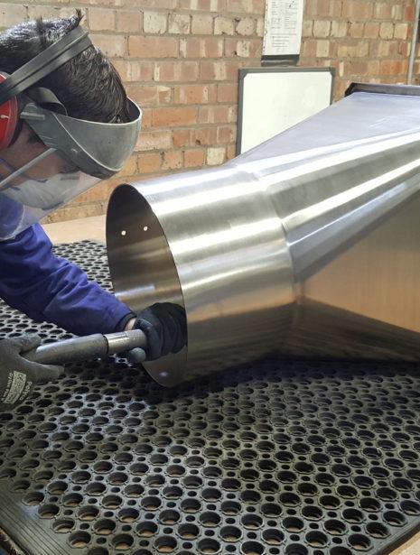 mechanical polishing satin finish