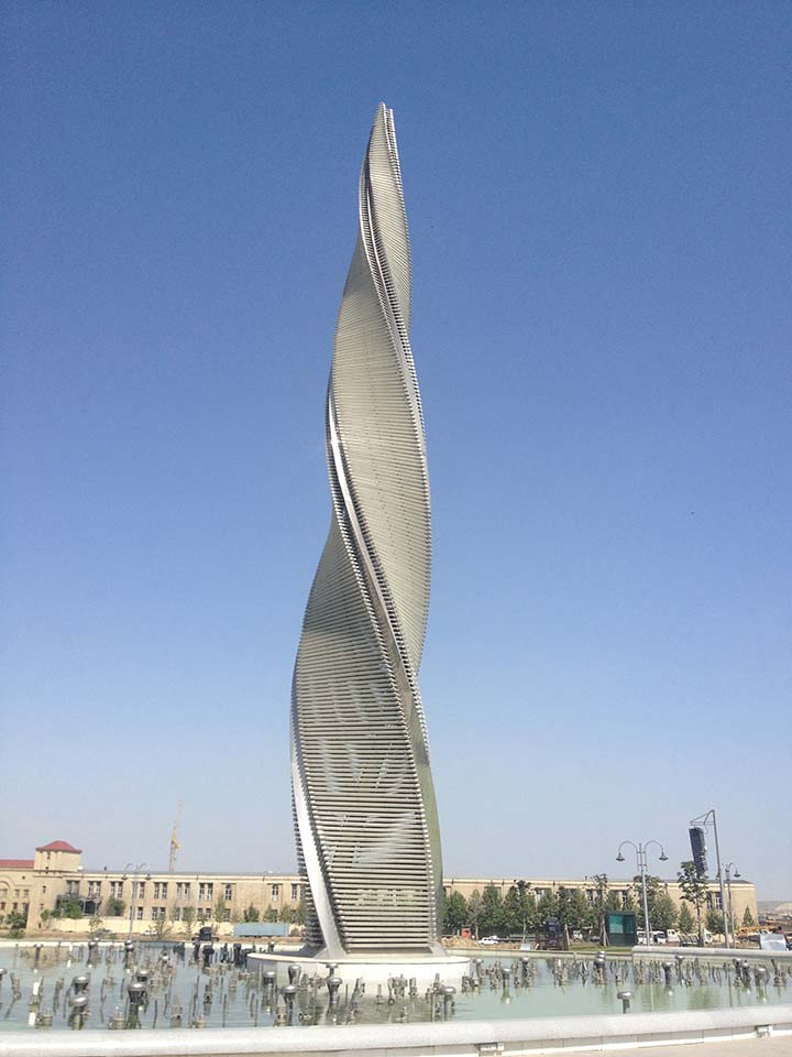 Azerbaijan Baku Flame Fountains